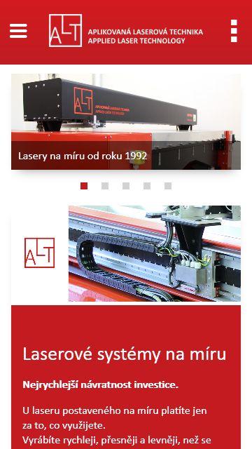 laser.cz mobilní zobrazení